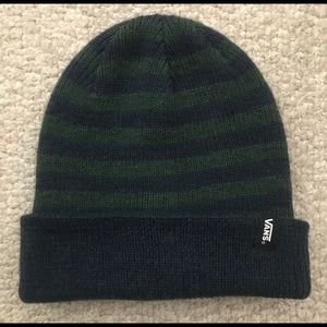 Vans Blue and Green Striped Beanie